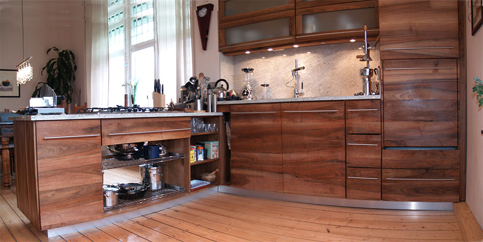 Küche Nussbaum küchen tischlerei am hof massivholzbau treppen türen küchen