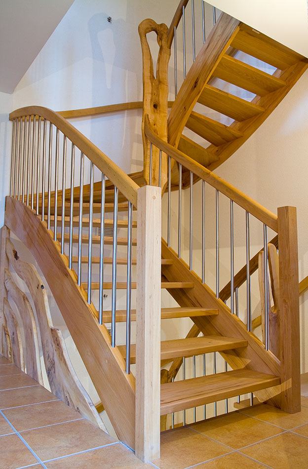 Treppen - Tischlerei Am Hof - Massivholzbau: Treppen, Türen ... Gestaltung Treppenhaus Altbau